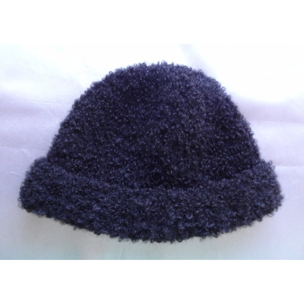 Alpaca Hat - Bouclé Black (Child 4-10)