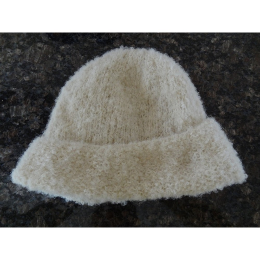 Alpaca Hat - Bouclé White (Child 4-10)