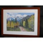 """Original Pastel painting """"Aspens in Autumn"""""""