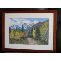 "Original Pastel painting ""Aspens in Autumn"""