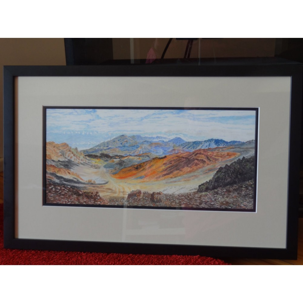 Mount Haleakala Panorama (Pastel Pencil)