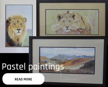 Pastel landscapes and pastel pencil animals